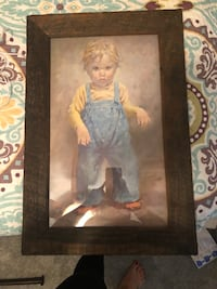 Art with rustic wood frame Gilbertsville, 19525