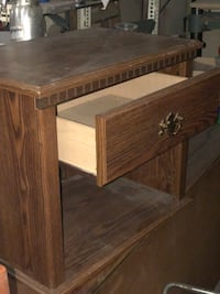 brown wooden nightstand