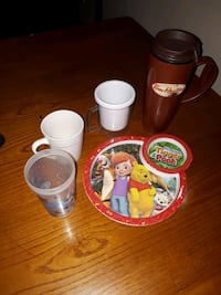 Travel mug and cups and kids plate Belleville, K8N 4E3