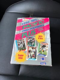 Brand new sealed box 1991 pacific plus football 36 packs Beltsville, 20705