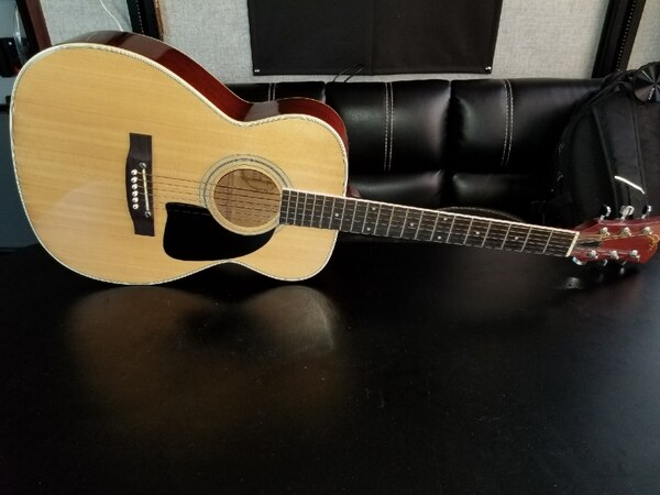 Goya G215 Acoustic Guitar  Very collectible  Great shape  With case
