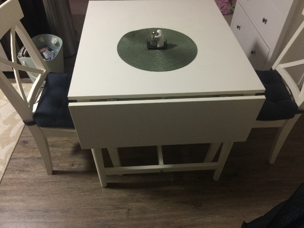 Used Ingatorp Drop Leaf Table And 2x Ektorp Chairs For Sale In