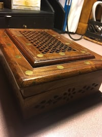 Ornate wooden box