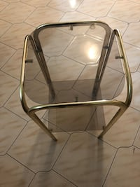 Gold antique small glass table