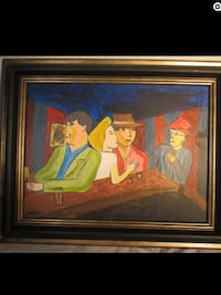 brown wooden framed painting of woman Montréal, H4L 3C3