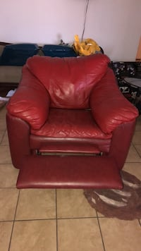 red leather sofa chair with ottoman Tucson, 85757