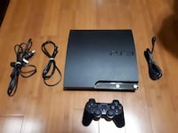 120 GB PS3 Slim + 1 Controller + 3 Games + All Cables Brampton