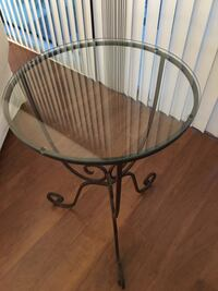 Glass topped side table Palm Desert, 92260