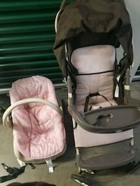 baby's pink and gray stroller Washington, 20019