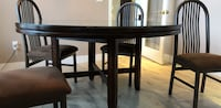 Brown glass table with chairs  Surrey, V3S 0L2