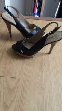 Black Leather Guess Heels