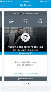 DRAKE MIGOS Sun, Nov 4, BALCONY LEVEL Seats Surrey, V3T 0L5