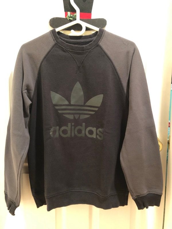 black and gray Adidas pullover hoodie
