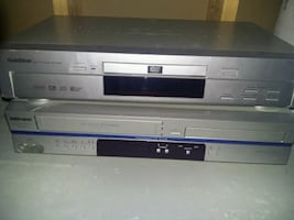DVD and VHS player
