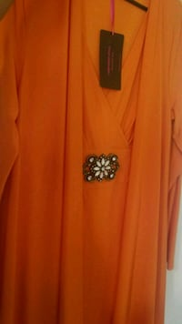 Orange Wrap Dress 48 km