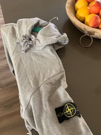 Stone Island patch hoodie