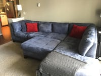 gray suede sectional couch with throw pillows Fairfax, 22033