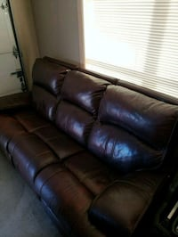 brown leather 3-seat sofa (reclines) Nixa, 65714