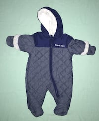 Toddler's gray and blue calvin klein snowsuit