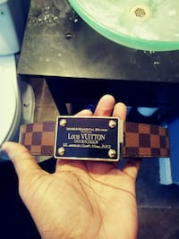 black and brown Louis Vuitton leather belt East Riverdale, 20737
