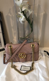 Gucci Marmont mini nude/ rose color bag perfect gift idea