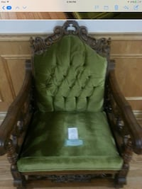 green and brown fabric sofa chair Vaughan, L6A 0A3