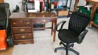 brown wooden desk with chair Effort, 18330