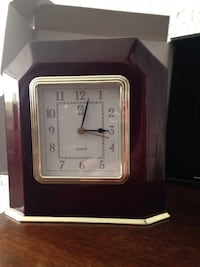 Desk/Mantle Clock. New in box. Would make a great holiday gift!