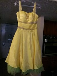 women's yellow spaghetti strap dress.kisskiss Corpus Christi