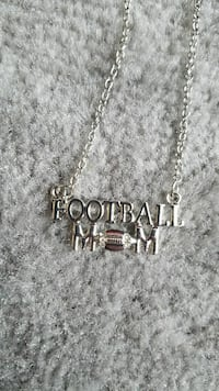 silver-colored Football Mom name pendant necklace Zimmerman, 55398