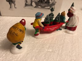 """Dept 56 North Pole Series """"Delivering The Christmas Greens"""""""