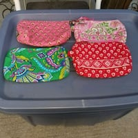 Vera Bradley small hand bags/clutches set of 4 all St. Louis, 63110