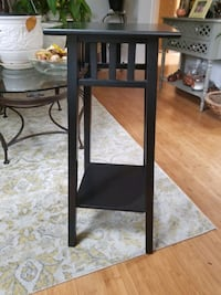 Black wooden plant stand Jessup, 20794
