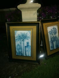 two brown wooden framed painting of trees Boynton Beach, 33436