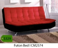 red and black suede couch La Mirada, 90638