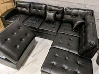 New- black sectional with ottoman Toronto, M3J