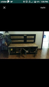 Wooded 4 door cabinet bench Owasso, 74055