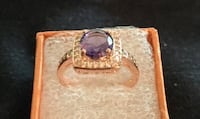 PURPLE CZ IN ROSE GOLD PLATED, SZ 9 Sparks, 89441