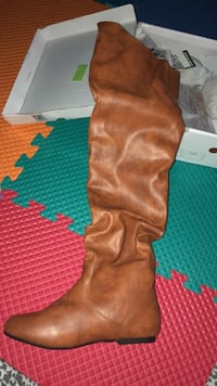 brown leather knee-high boots Laredo, 78046