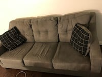 Grey fabric 3-seat sofa pullout couch 2217 mi