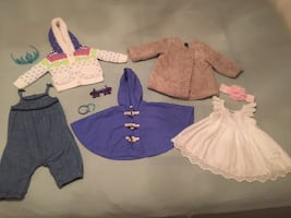 Girls 10 items of clothes/accessories  Sz:6-18 mo Excellent condition