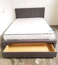 Brand New Queen Size Storage Bed + Mattress