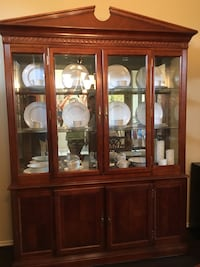 Brown wooden framed glass display cabinet Richmond, 77406
