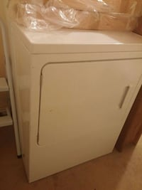 GE white front load dryer