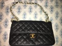 quilted black leather crossbody bag New York, 10475