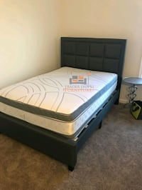 Brand New Full Size Grey Linen Upholstered Platform Bed + Pillowtop Ma Silver Spring, 20910