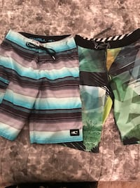 Bundle of 2 board shorts size 26 men's O'Neill and Ocean Current lot
