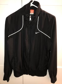 Women's Black Lined Zip-up Nike Running Jacket - Small