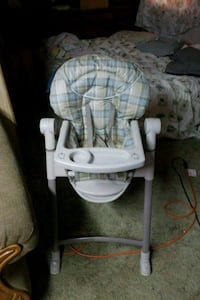 baby's white and gray Graco high chair Homeland, 92548