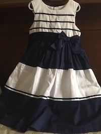 Navy Blue and White Kids Dress Kitchener